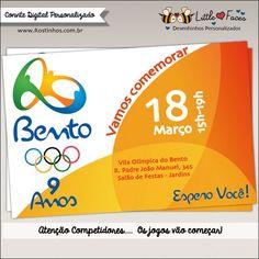 Convite Festa Olimpíadas Rio 2016 Digital