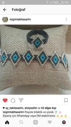 Beaded Rings, Beaded Jewelry, Handmade Jewelry, Woven Bracelets, Jewelry Bracelets, Seed Bead Earrings, Jewelry Making Beads, Bead Art, Beaded Bracelets