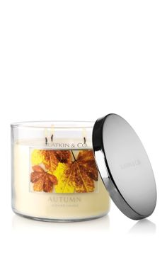 "slatkin & co. ""autumn"" candle... hello fall! i've missed you so!"