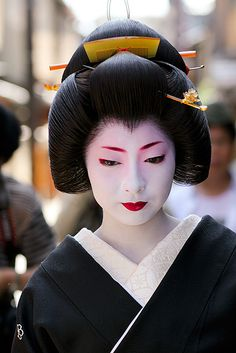 Kimika's erikae (her debut as a Geiko, a Kioto local term for Geisha)