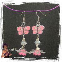 Ohrhänger mit Schmetterlingen & Blüten