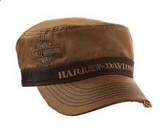 Harley-Davidson Unisex Painter's Cap, Bar & Shield, Brown Stone Washed PC31339. Read more description on the website.