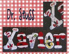 Dr. Seuss Hand Painted Nursery Letters  www.funkyletterboutique.com