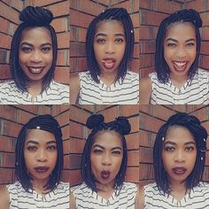 Short Box Braids Styles Bob Braids Bob braids Styles - Looking for Hair Extensions to refresh your hair look instantly? focus on offering premium quality remy clip in hair. Braids Bob Style, Bob Box Braids Styles, Box Braids Styling, Twist Braids, Braid Styles, Curly Hair Styles, Natural Hair Styles, Short Box Braids Bob, Twists