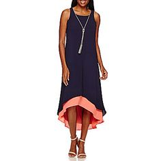 jcp | R&K Originals® Sleeveless Solid Layered High-Low Necklace Maxi Dress