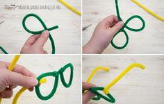 como hacer gafas con limpapipas