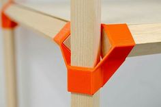 Jonction-T is a low-cost scenography system using 3D printed connectors and standard wood sticks.