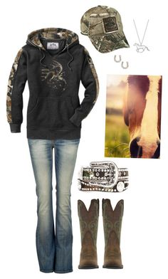"""""""Untitled #168"""" by horselover2409 ❤ liked on Polyvore featuring LTB by Little Big, Realtree, SSUR and Nocona"""