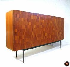 AreaNeo | Dieter Waeckerlin for Behr chess-board rosewood highboard 1952 - Modern Furniture -Behr Wendlingen