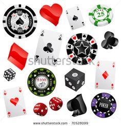 Casino Design Elements Vector - 70528099 : Shutterstock