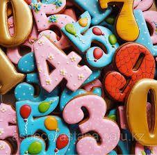 """Имбирный пряник Цифры 0-9 купить в Астане, цена - """"Asdecor"""" - 67694416 Sugar, Cookies, Desserts, Food, Crack Crackers, Tailgate Desserts, Deserts, Biscuits, Essen"""