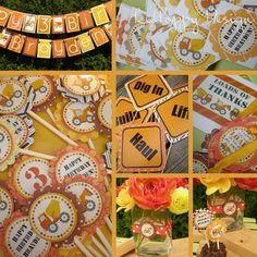Food labels, favor labels, banner