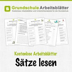 Kostenlose Arbeitsblätter und Unterrichtsmaterial für den Deutsch-Unterricht zum Thema Sätze lesen in der Grundschule.