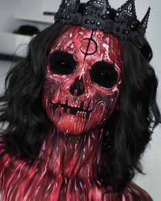 Halloween Makeup Looks ♥. Face Paint Makeup, Sfx Makeup, Cosplay Makeup, Costume Makeup, Makeup Art, Cool Halloween Makeup, Halloween Looks, Crazy Makeup, Cute Makeup