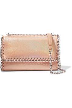 Stella McCartney - Flo iridescent faux brushed-leather shoulder bag 2a54d9ebc24a4
