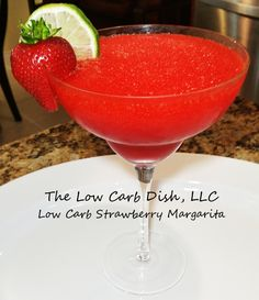 Low Carb Strawberry Margarita