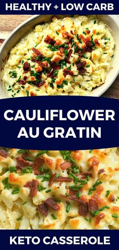 Need an easy side dish? This Loaded Cauliflower Casserole is the best low carb keto side dish recipe for dinner! My kids love this cheesy cauliflower casserole with bacon! If you're looking for a new easy keto recipe for dinner or the holidays don't miss this simple side dish! #sidedish #side #cauliflower #holiday #keto #ketorecipes #lowcarb #casserole #comfortfood Low Carb Side Dishes, Side Dishes Easy, Side Dish Recipes, Keto Recipes, Dinner Recipes, Healthy Recipes, Easy Recipes, Macro Recipes, Slimming Recipes