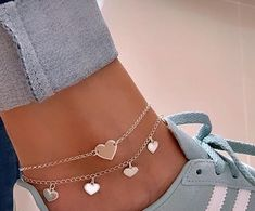 Simple Jewelry, Cute Jewelry, Jewelry Accessories, Cute Anklets, Beaded Anklets, Piercings, Accesorios Casual, Ankle Jewelry, Fashion Jewelry