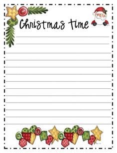 Christmas border writing paper