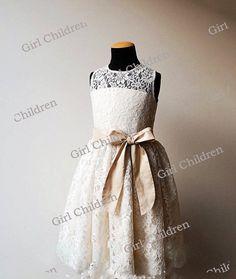 Lace Cap Sleeves TUTU Flower Girl Dress Wedding Easter Junior Bridesmaid #Dress