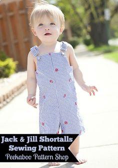 Jack & Jill Shortalls PDF Sewing Pattern - Peekaboo Pattern Shop