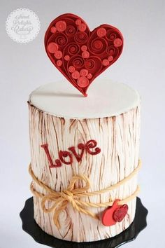 With Love Valentine Cake Tutorial by NIsha Fernando of Sweet Delights Cakery Fondant Icing, Fondant Cakes, Cupcake Cakes, Buttercream Cake, Fancy Cakes, Cute Cakes, Pink Cakes, Sweet Cakes, Heart Cakes