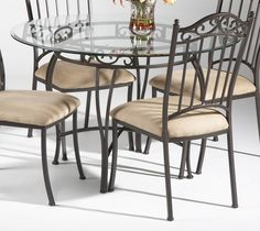 Glass Circle Table And Chairs