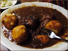 Baltimore-Style Sour Beef And Dumplings Sauerbraten) Recipe - Genius Kitchen Beef Recipes, Cooking Recipes, German Recipes, Pan Cooking, Cooking Blogs, Cooking Ideas, Easy Recipes, Recipies, Beef Dumplings