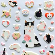 Jetoy Choo Choo Cat Bling Stickers in Lovely Heart