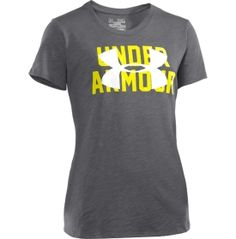 Under Armour Girls' Charged Cotton Slub Script T-Shirt
