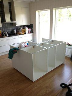 Bygga köksö IKEA-stommar