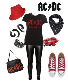 """AC/DC Day \m/"" by criketdawn on Polyvore featuring Studio, Converse, Sif Jakobs Jewellery, AeraVida, Yves Saint Laurent and Bling Jewelry"