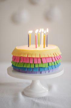 Fringe Birthday Cake | A Subtle Revelry