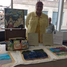 My booth at the 2nd Annual Latino Art Fair at Madison Central Public Library