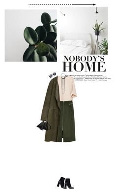 """MIlitary green"" by miss-milika ❤ liked on Polyvore featuring Zara, River Island and French Connection"