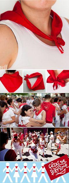 Créatéine : foulard à noeud pour les fêtes de Bayonne