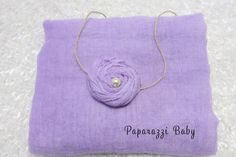 Simple lavender cheesecloth and headband wrap set, newborn girl photography prop, newborn ph tography, purple wrap set, purple cheesecloth