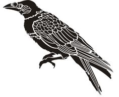 free crow stencils | Crow Stencil