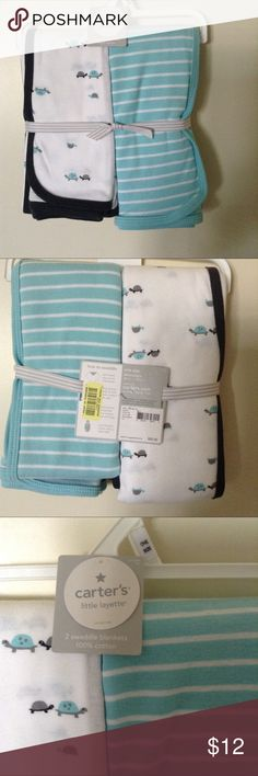Carters brand new swaddle blankets 100% cotton carters swaddle blankets. BRAND NEW Carter's Other