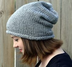 Free knitting pattern: Seven Dwarves Beanie. This adorable slouch hat