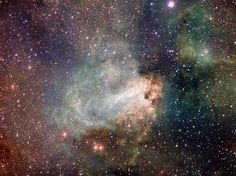 Swan Nebula as Seen by New VLT Survey Telescope - The first released VST image shows the spectacular star-forming region Messier also known as the Omega Nebula or the Swan Nebula Cosmos, Carina Nebula, Astronomy Pictures, Hubble Pictures, Space Photos, Space Images, Sky Images, To Infinity And Beyond, Deep Space