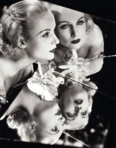 Carole Lombard reflects, 1930's.
