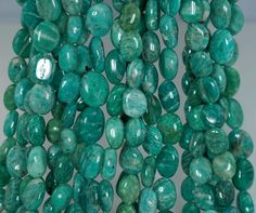 8-10mm Russian Amazonite Gemstone Green Pebble Chips Loose Beads 16 inch Full Strand (90183922-360)