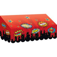 Hang a classroom Superhero Awning on bulletin boards, doorways or centers
