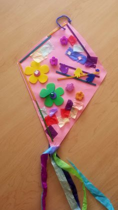This kite was made by Danielle from Mother's Care Day Care.