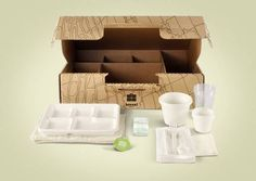 Picnic in a box (an earth friendly biodegradable one)  #boxsal