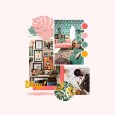 Looking back at an old favourite mood board today from this branding project with Loved working with this colour palette and lots of bold graphics - a dream combo ✨⠀⠀ Creative Portfolio, Portfolio Design, Web Design, Design Layouts, Collage, Concept Board, Brand Board, Personal Branding, Creative Business