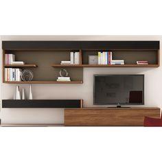 Composici n 20 composici n modular de l neas rectas con for Meuble tv mural 120 cm