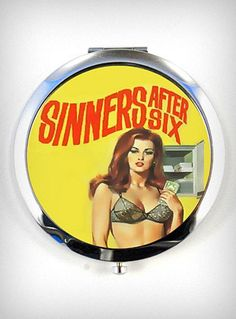 Sinister After Six Compact Mirror   PLASTICLAND