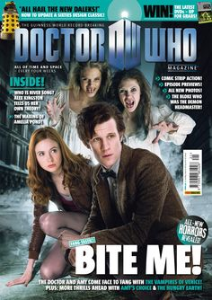 Doctor Who Magazine released today New Doctor Who, Eleventh Doctor, Doctor Who Magazine, Alex Kingston, Through Time And Space, Hello Sweetie, Karen Gillan, Guinness World, Amy Pond